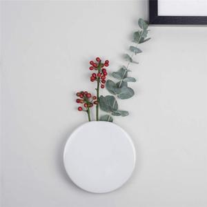 Wholesale home decor circle shape the great ceramic wall vase