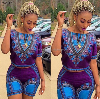1023843b955 African kitenge clothes dashiki top and shorts jumpsuits rompers for women