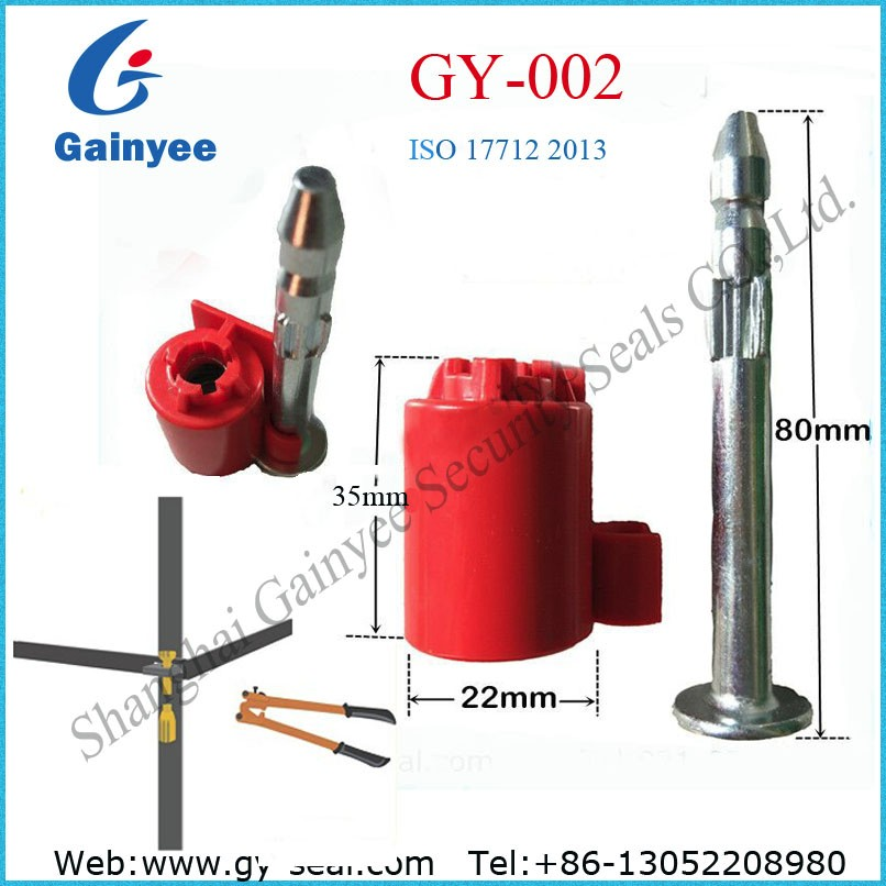 New design high security electric bolt seal lock for container GY002