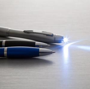 Pen with flashlight promotional custom led pen torch