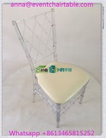 Armless Ghost Chair Plastic PC Clear Crystal Resin Phoenix Chair