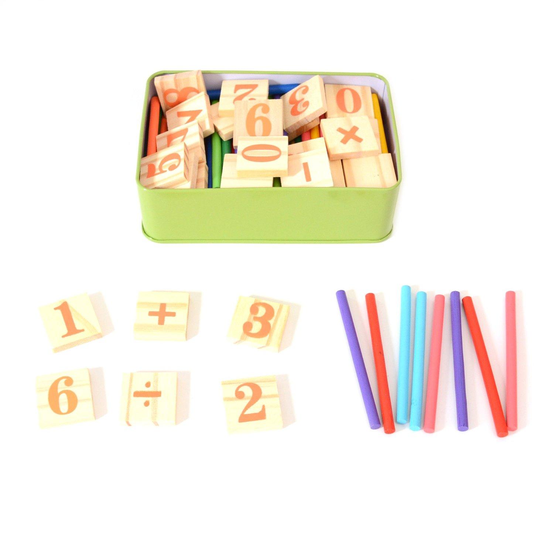 250Pcs Montessori Mathematical Intelligence Stick Preschool Kids Toys Sticks New