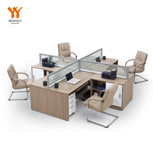 4 person computer office furniture workstation modular