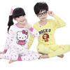 Wholesale lovely printing 100% cotton children clothes kids thermal pajamas