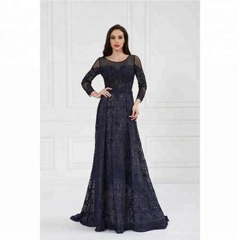 58c02d73efe36 卸売黒長袖刺繍レースフォーマルイブニングドレス - Buy エレガントな ...