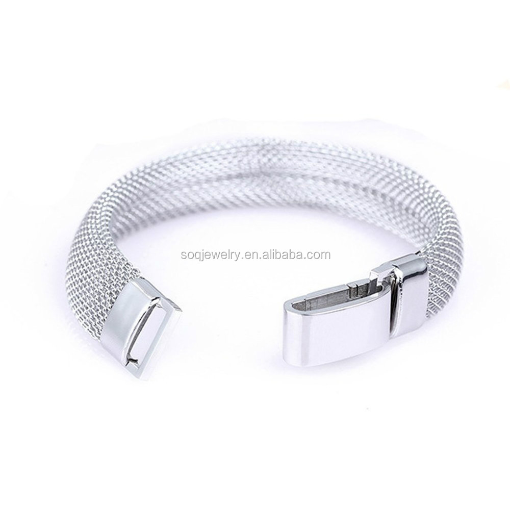 Wide Women 316I Stainless Steel Italian Mesh Bracelet Jewelry Designs