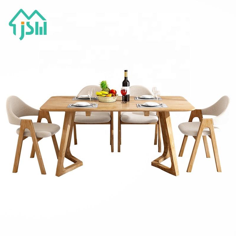 Jasiway minimalist आयताकार खाने की मेज burlywood प्राकृतिक खत्म में खाने की मेज