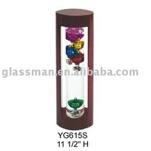 11 1/2 Multi-Colored Glass Galileo Thermometer