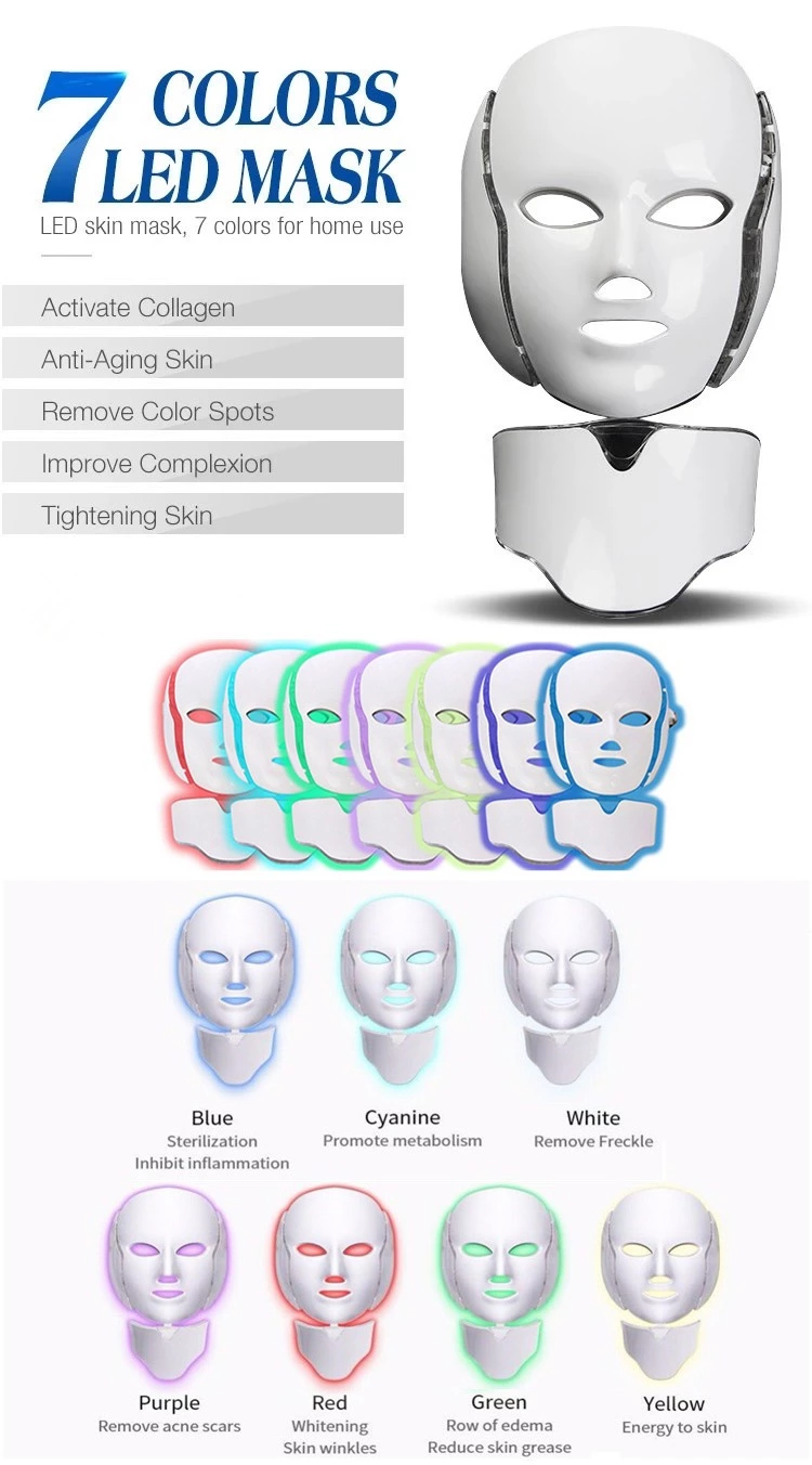 7 Color Pdt Led Photon Therapy Light Photodynamic System LED Mask