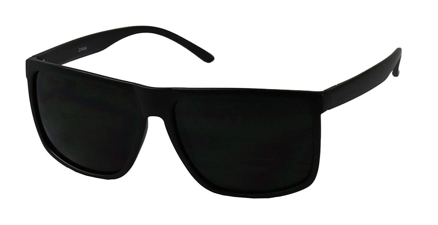 26819c2a76 Get Quotations · ShadyVEU - Mens Over Size Square Flat Top Light Weight  Sunglasses