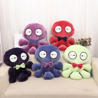 factory custom OEM plush octopus shape body emoji pillow