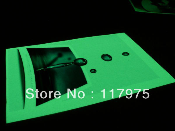 glow in the dark photo paper
