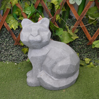 Outdoor Deco Unfinished Cement Animal Figurine Cat Statue - Buy ...