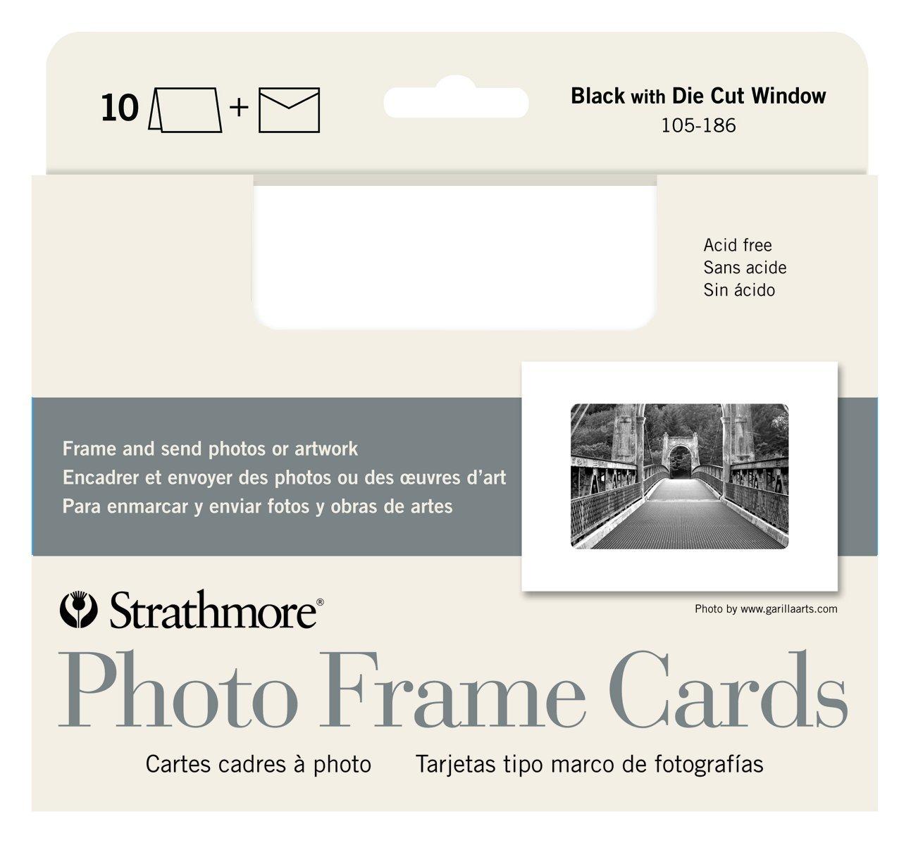 Strathmore Photo Frame Cards, White Cutout Window, 10 Cards & Envelopes
