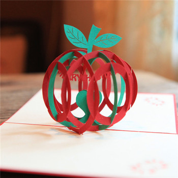 cheap apple shape 3d christmas cards - Cheapest Christmas Cards