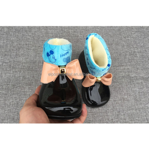 Winter Sheepskin Lined Warm Baby Shoes Rubber Rain Boots