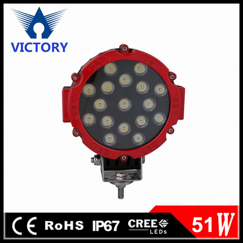 Direct factory price car led Driving light 51W 10-30V DC led Driving light for heavy duty,auto parts,trucks with CE and