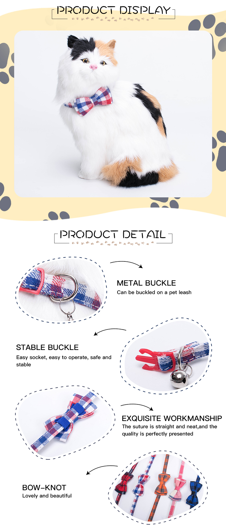 All Kinds Of Printed Pet Customize Pet Collar With Bells