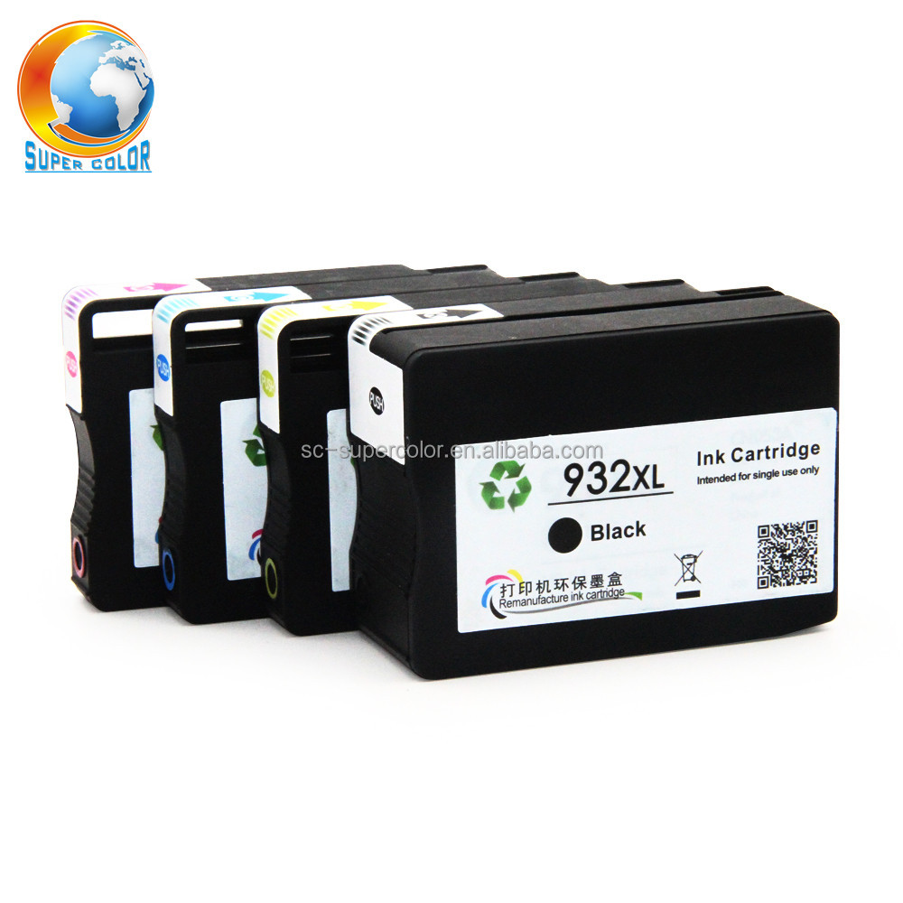 Supercolor For HP 932 XL 933XL 100% New Remanufactured Ink Cartridge For HP Officejet 6100 e Printer - H611a 6600 e-AIO Printer
