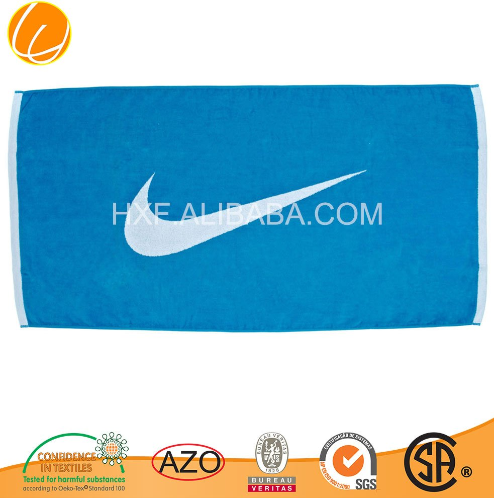 branded wholesales cotton printed beach towel nike 2015 Hotsale OEM Manufacture Yarn Dyed Luxury Custom Made Cabana Ultra Soft