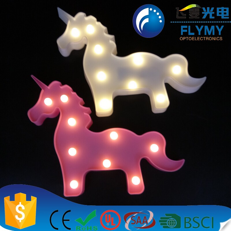 ebay/amazon/ins hotselling Customed hot sale 3D new and fabulous unicorn Led marquee sign/light for party wedding decoration
