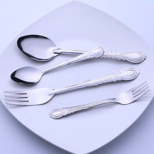 Fork and spoon suit stainless steel 72pcs cutlery set