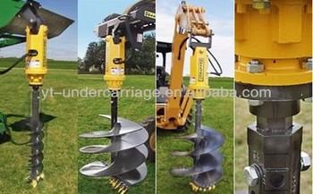 Hydraulic Auger For Backhoe Rolling Machine Spiral Auger
