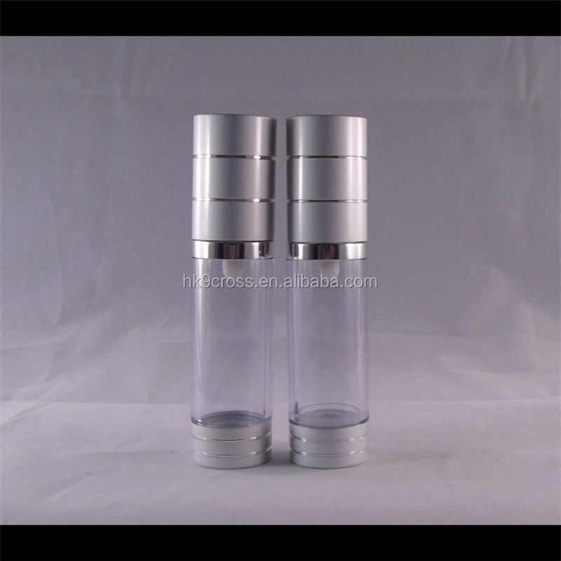 top quality acrylic airless pump pressure cosmetic lotion bottle