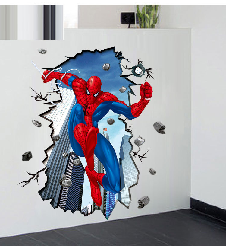 Hot Sale 3D Spiderman Dimensional Wall Stickers 60*90cm ...