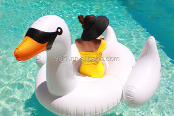 Popular Inflatable Giant Swan Ride On Pool Toy