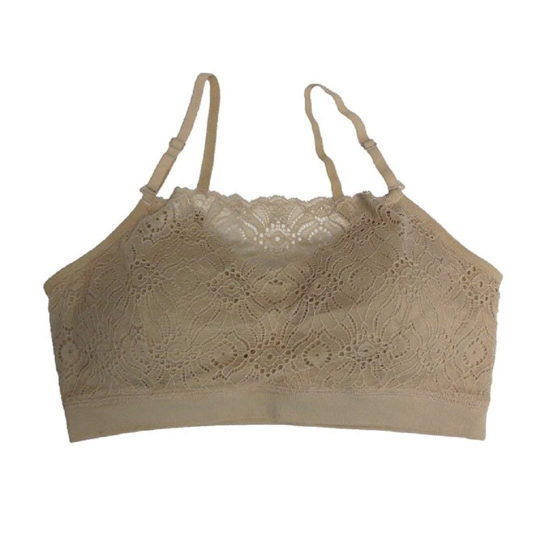 d1a59ad8857 Get Quotations · Coobie Women s Lace Coverage Wire-Free Bra One Size - 9050  (Light Nude)