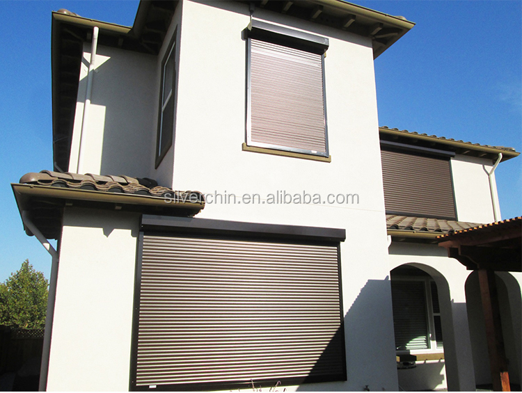 Exterior Hand Actuated Aluminum Roller Shutters Fire Rated