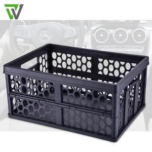 Premium Foldable Car Trunk Organizer and Storage Box for SUV, Auto, Vehicle, Family Vans, Travel and Camp