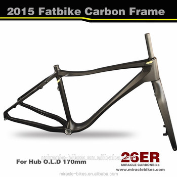 Hoge kwaliteit 700c carbon frame voorvork fatbike, bb 100mm breed full carbon fiets china vet mc171