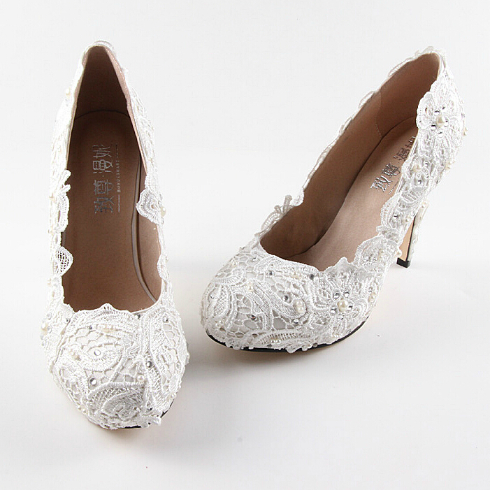 03fd133bfcdf0 Cheap White Closed Toe Wedding Shoes