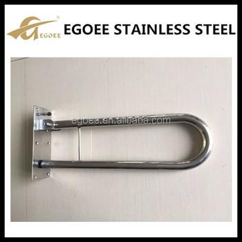 U Shape Stainless Steel Bathroom Handrail For Handicap
