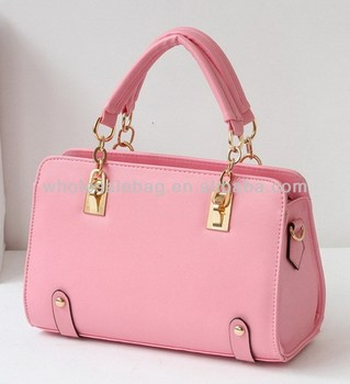 2014 Designer Hot Sale Korean Style Cute Small Pink Hard Shell Handbag Tote  Bag For Ladies 5eebf217e7705