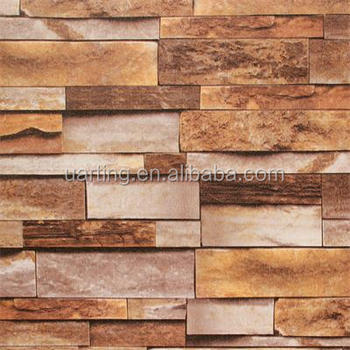 Brick Design Decorative Wallpaper For Barcoffee House western