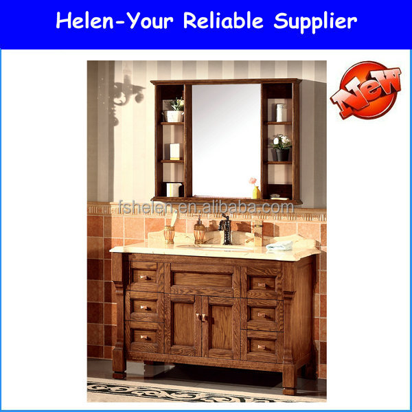 Classical Bahtroom Vanities Floor Standing Solid Wood Wash Basin Made In China Foshan NO.1517