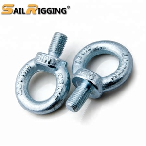 Rigging Hardware Factory Din580 24mm M24 Galvanized Metric Thread Weld Anchors Eye Bolts