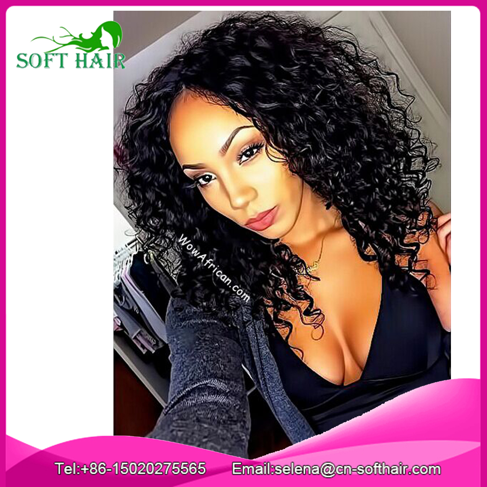 2017 Fashion Sensationnel Invisible Hairline Wigs Wholesale lace front human hair wig with baby hair