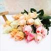 cheap real touch Artificial rose flowers bud for wedding ,home and party decoration(handle and wet)