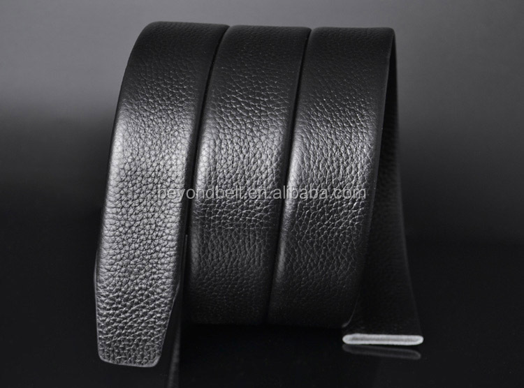 Beyond Men's 3.5cm Wide Top Grain Genuine Leather Ratchet Belt Strap