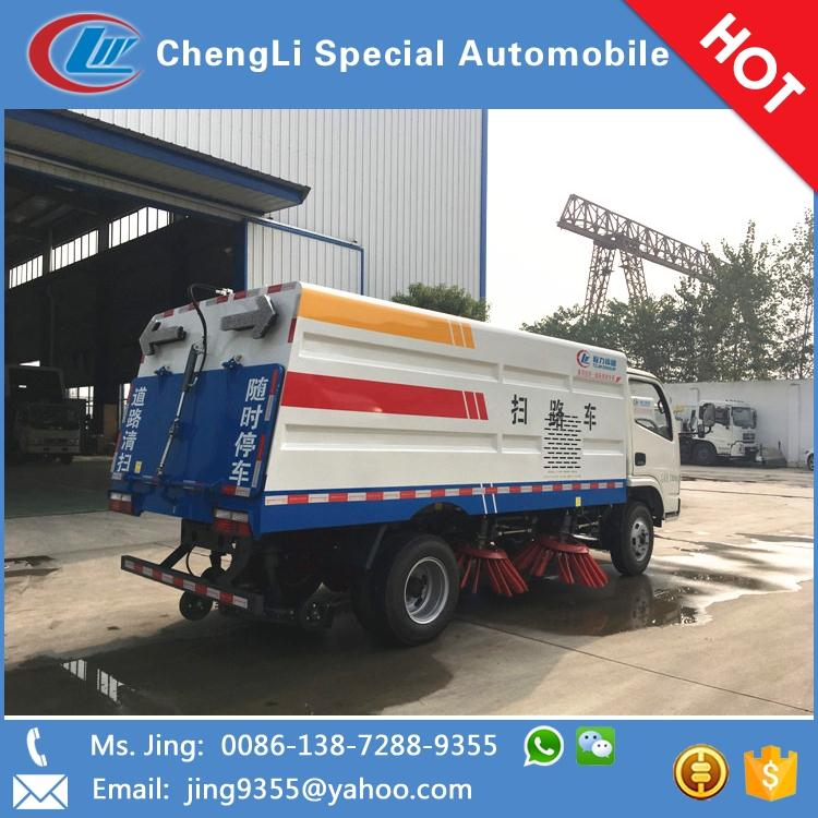 High quality Vietnam DFAC 4x2 small road sweeper truck for public street