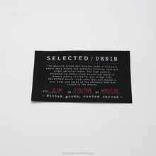 Fabric fake designer labels for clothing