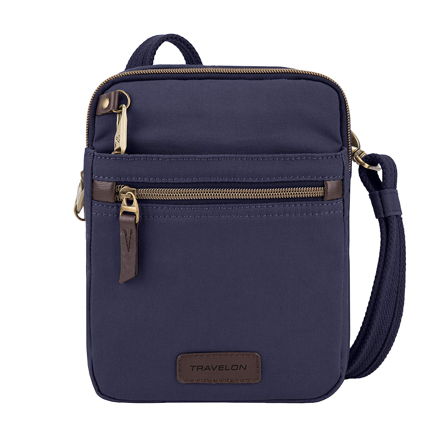 Travelon Anti-Theft Courier Small N/s Slim Travel Tote, Navy, One Size
