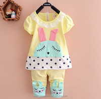 new baby clothing sets lovely rabbit pattern