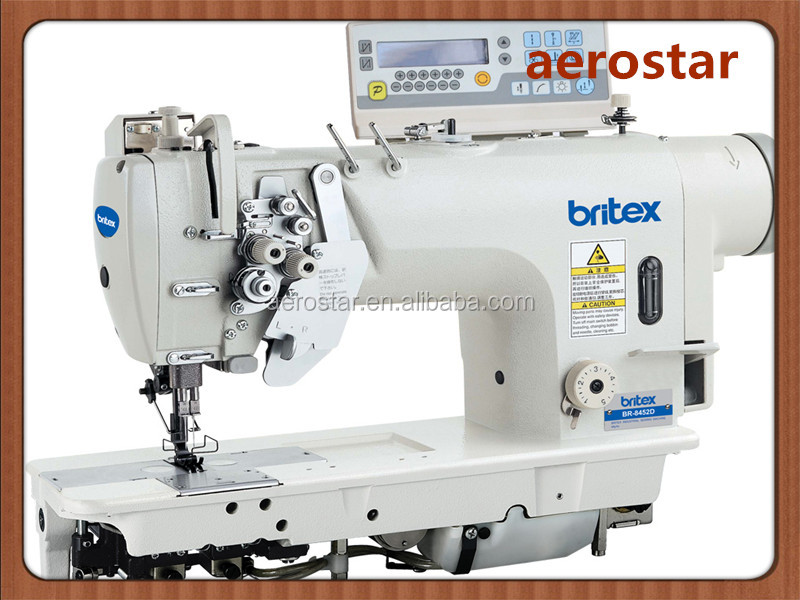 BR-8452D Electrinic High-speed Double Needle Lockstitch Industrial Sewing Machine With Direct Drive