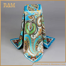 Latest Hot Selling custom twill silk scarf 90x90
