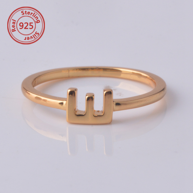 Gold Ring Designs A z Alphabet Finger Ring Sterling Silver Ring